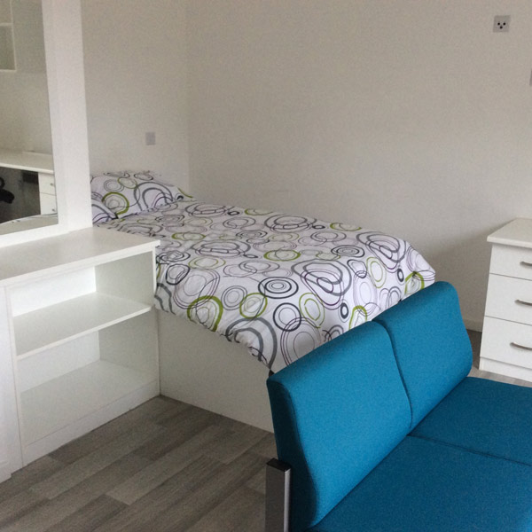 Ayr University Of The West Of Scotland Student Bedroom