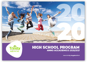 TRINITY VIAGGISTUDIO Copertina Catalogo High School Program 2020
