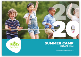 TRINITY VIAGGISTUDIO Copertina Catalogo Summer Camp 2020